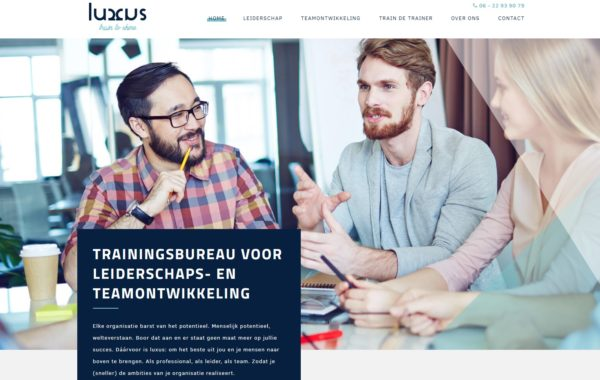 Custom made website Luxus Training